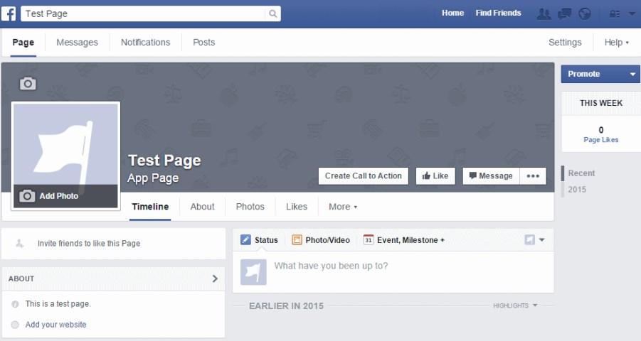 Risultati immagini per pagina facebook vuota